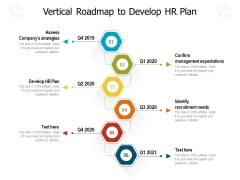 Vertical Roadmap To Develop HR Plan Ppt PowerPoint Presentation Gallery Background Images PDF