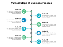 Vertical Steps Of Business Process Ppt PowerPoint Presentation Professional Visual Aids PDF