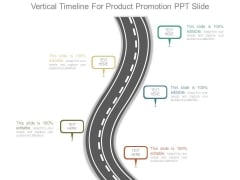 Vertical Timeline For Product Promotion Ppt Slide