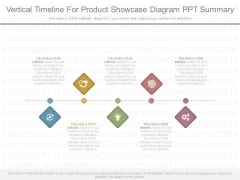 Vertical Timeline For Product Showcase Diagram Ppt Summary