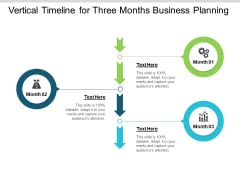 Vertical Timeline For Three Months Business Planning Ppt PowerPoint Presentation Summary Example Topics