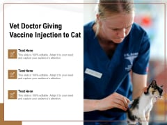Vet Doctor Giving Vaccine Injection To Cat Ppt PowerPoint Presentation Professional PDF