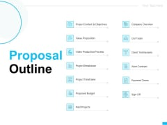 Video Ads Proposal Outline Ppt Outline Introduction PDF