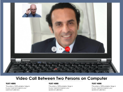 Video Call Between Two Persons On Computer Ppt PowerPoint Presentation Ideas Mockup PDF