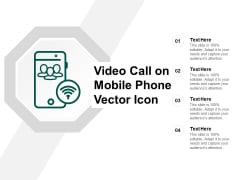 Video Call On Mobile Phone Vector Icon Ppt Powerpoint Presentation Summary Slide