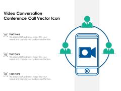 Video Conversation Conference Call Vector Icon Ppt PowerPoint Presentation Icon Portfolio PDF
