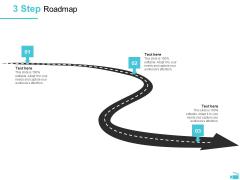 Video Development And Administration 3 Step Roadmap Graphics PDF