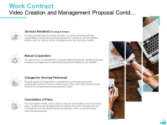 Video Development And Administration Work Contract Video Creation And Management Proposal Contd Icons PDF