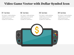 Video Game Vector With Dollar Symbol Icon Ppt PowerPoint Presentation File Graphics Tutorials PDF