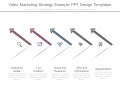 Video Marketing Strategy Example Ppt Design Templates