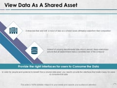 View Data As A Shared Asset Ppt PowerPoint Presentation Icon Example Introduction