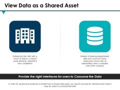 View Data As A Shared Asset Ppt PowerPoint Presentation Outline Design Ideas
