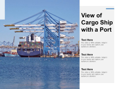 View Of Cargo Ship With A Port Ppt Powerpoint Presentation Summary Template