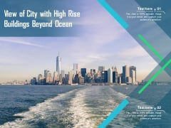 View Of City With High Rise Buildings Beyond Ocean Ppt PowerPoint Presentation File Clipart PDF