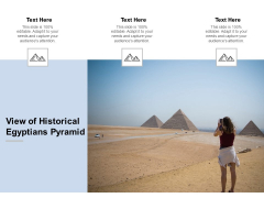 View Of Historical Egyptians Pyramid Ppt PowerPoint Presentation Model Show Cpb