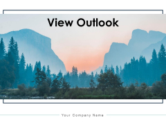View Outlook Pyramid Ppt PowerPoint Presentation Complete Deck