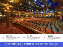 Viewers Sitting Capacity Of Florida State University Auditorium Ppt PowerPoint Presentation Infographic Template Format Ideas PDF