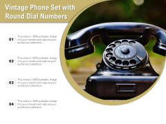 Vintage Phone Set With Round Dial Numbers Ppt PowerPoint Presentation File Background Images PDF