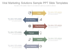 Viral Marketing Solutions Sample Ppt Slide Templates