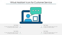 Virtual Assistant Icon For Customer Service Ppt PowerPoint Presentation File Graphics PDF