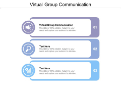 Virtual Group Communication Ppt Powerpoint Presentation Infographics Designs Download Cpb