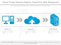 Virtual Private Network Diagram Powerpoint Slide Background