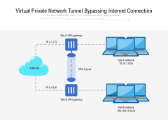 Virtual Private Network Tunnel Bypassing Internet Connection Ppt PowerPoint Presentation Gallery Designs Download PDF