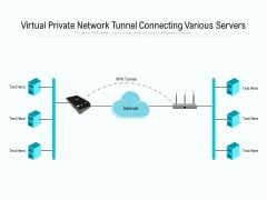 Virtual Private Network Tunnel Connecting Various Servers Ppt PowerPoint Presentation Gallery Outfit PDF