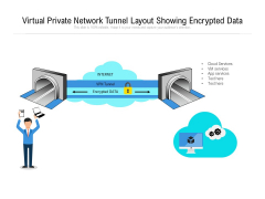 Virtual Private Network Tunnel Layout Showing Encrypted Data Ppt PowerPoint Presentation File Summary PDF