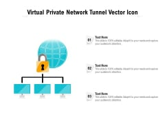 Virtual Private Network Tunnel Vector Icon Ppt PowerPoint Presentation Icon Model PDF
