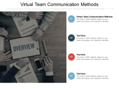 Virtual Team Communication Methods Ppt PowerPoint Presentation Gallery Portrait
