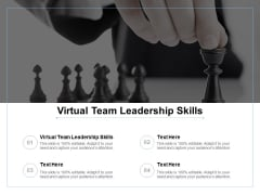 Virtual Team Leadership Skills Ppt Powerpoint Presentation Inspiration Demonstration Cpb