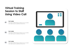 Virtual Training Session To Staff Using Video Call Ppt PowerPoint Presentation Slides Vector PDF