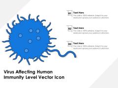 Virus Affecting Human Immunity Level Vector Icon Ppt PowerPoint Presentation Slides Graphics Design PDF