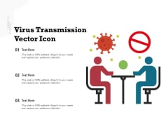 Virus Transmission Vector Icon Ppt PowerPoint Presentation Layouts Guidelines PDF