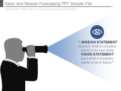 Vision And Mission Forecasting Ppt Sample File