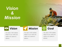 Vision And Mission Ppt PowerPoint Presentation Icon Format