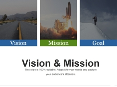 Vision And Mission Ppt PowerPoint Presentation Infographic Template Design Inspiration
