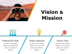 Vision And Mission Ppt PowerPoint Presentation Infographic Template Display