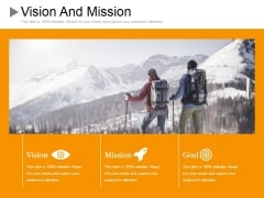 Vision And Mission Ppt PowerPoint Presentation Inspiration Model