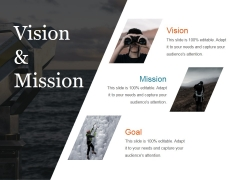 Vision And Mission Ppt PowerPoint Presentation Pictures Tips
