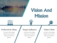 Vision And Mission Ppt PowerPoint Presentation Styles