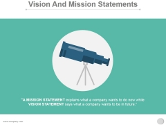 Vision And Mission Statements Ppt PowerPoint Presentation Samples