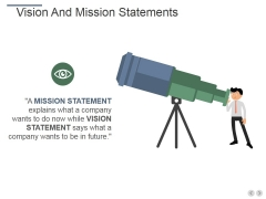 Vision And Mission Statements Ppt PowerPoint Presentation Slides Background