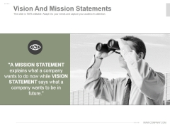 Vision And Mission Statements Ppt PowerPoint Presentation Topics