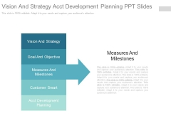 Vision And Strategy Acct Development Planning Ppt Slides
