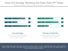 Vision And Strategy Marketing And Sales Skills Ppt Slides
