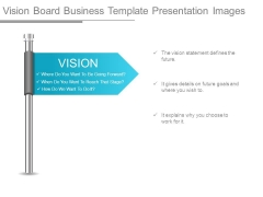Vision Board Business Template Presentation Images