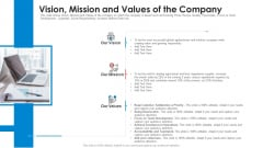 Vision Mission And Values Of The Company Professional PDF