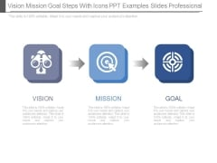 Vision Mission Goal Steps With Icons Ppt Examples Slides Professional